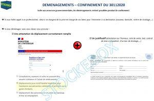 Demenagement COVID 19